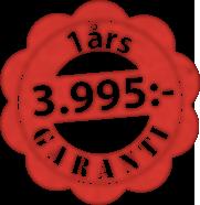 Garanti från 3995:-